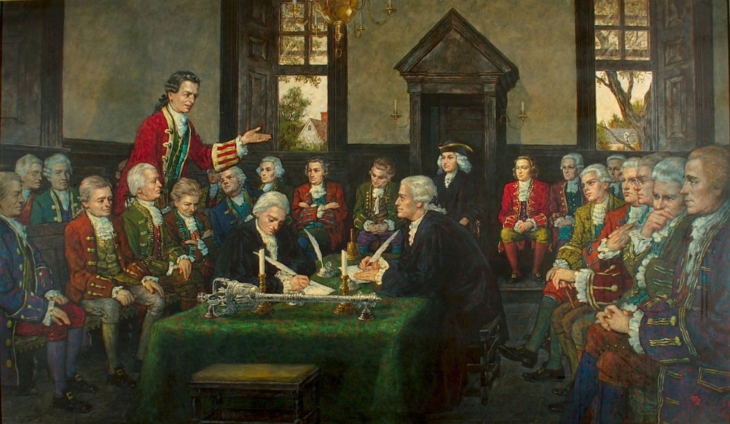 Adoption of the Virginia Declaration of Rights